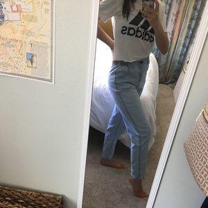 cute high waisted mom jeans!!